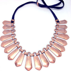 Lori Goldstein Logo Links Copper Necklace New